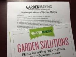 Garden Making letter