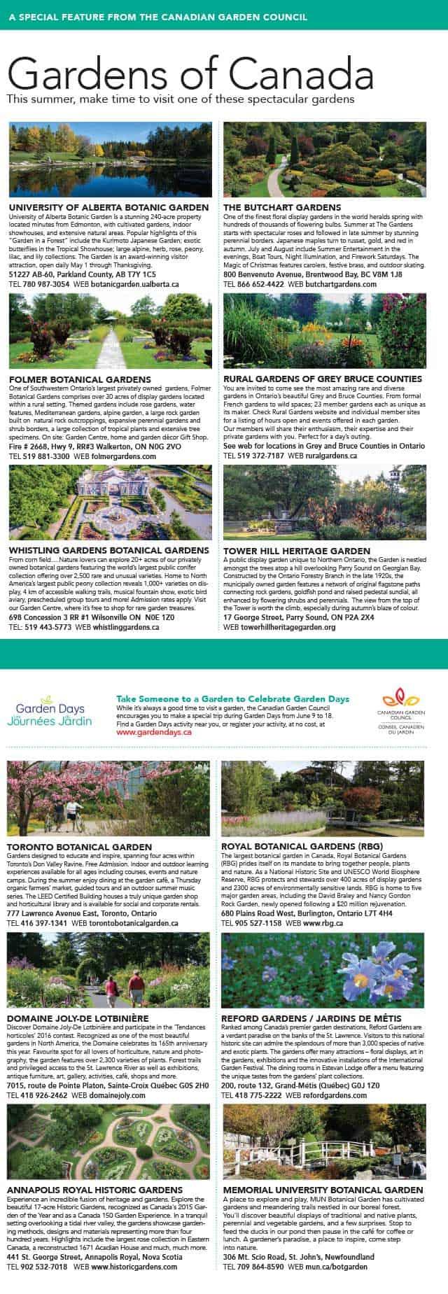 Gardens of Canada 2017