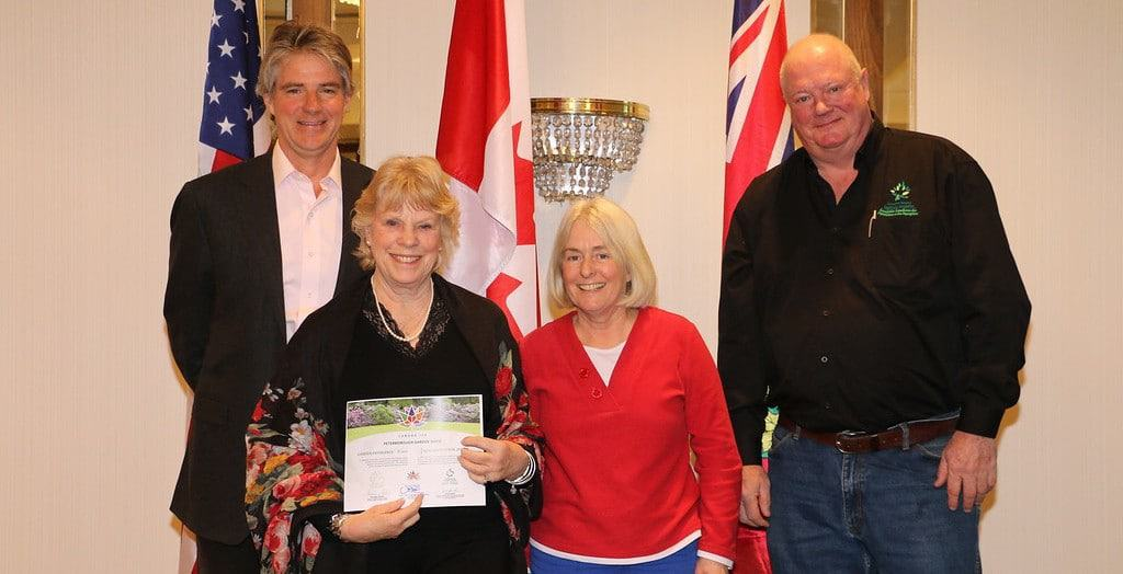 Accepting on behalf of the Peterborough Garden Show: Cauleen Viscoff and Claire Sullivan.