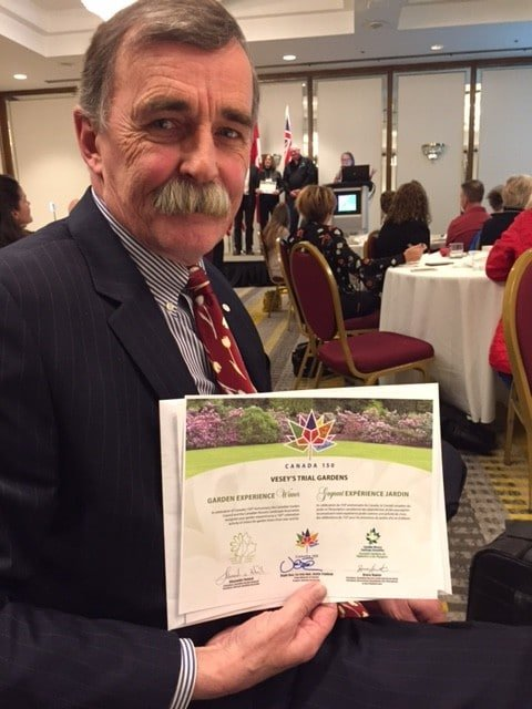 John Barrett of Vesey's Seeds in Prince Edward Island: Trial gardens recognized.