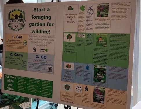 Start a foraging garden sign at native plants forum