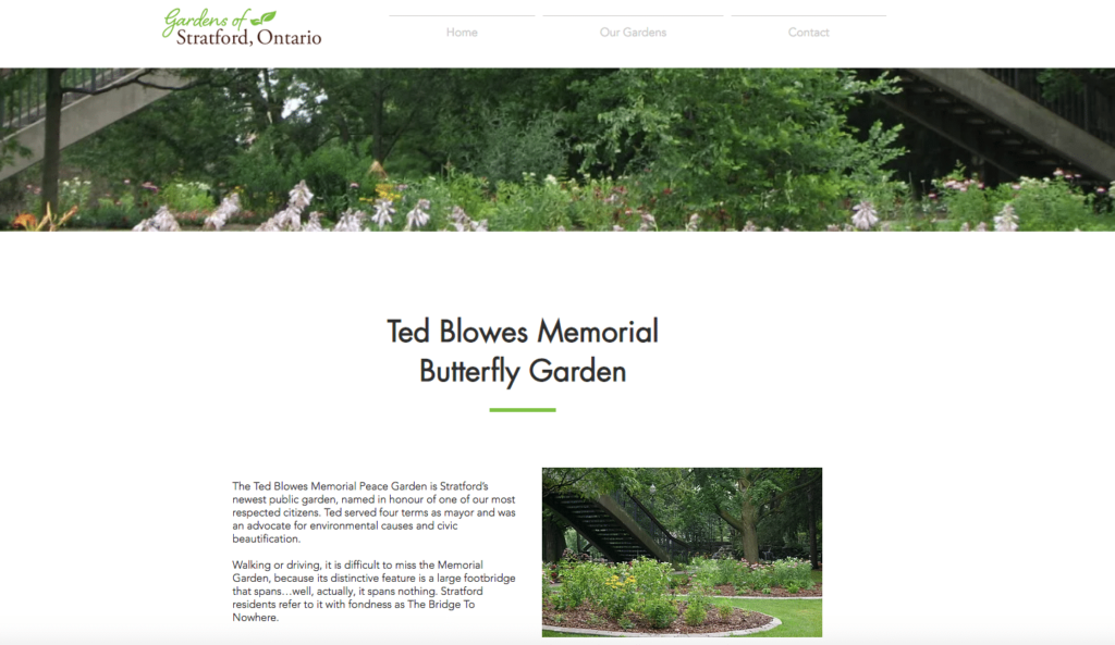 ted blowes garden stratford