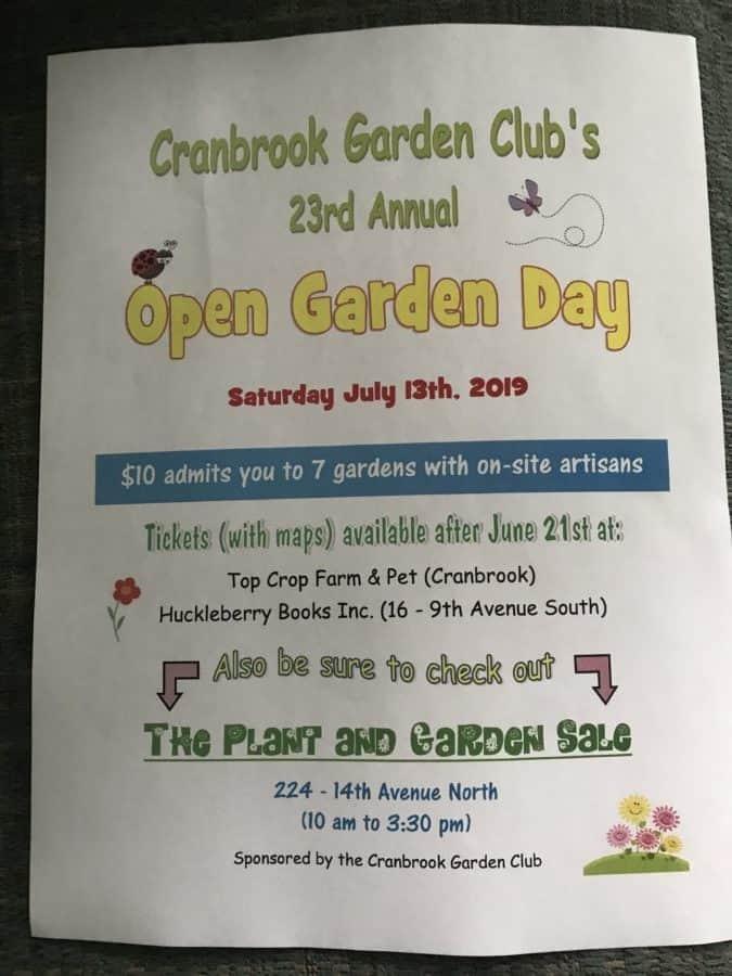 Cranbrook's Garden Club's 23rd Annual Open Garden Day Tour