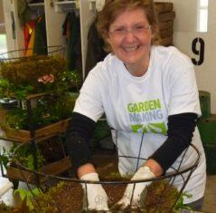 Lorraine Flanigan is put to work at Butchart Gardens.
