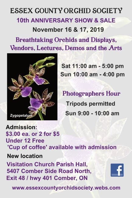 Essex County Orchid Society 10th Orchid Show & Sale