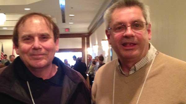Robert Caron and David Dunn of Rideau Woodland Ramble at the awards.